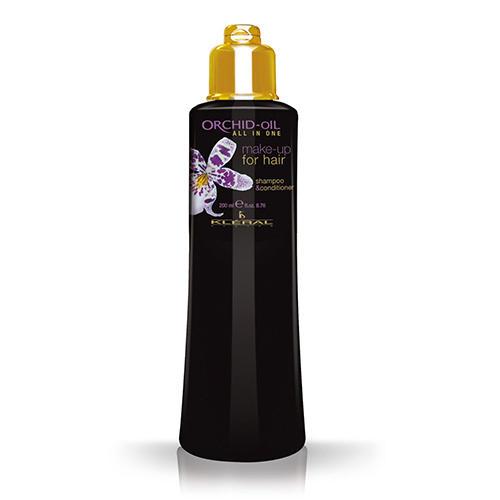 Шампунькондиционер для волос с маслом орхидеи All in One Makeup for hair, 200 мл (Kleral System, Orchid Oil) интимная косметика system jo массажный гель масло all in one massage oil cucumber огуречный