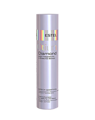 Шампуньблеск для гладкости и блеска волос Otium Diamond 250 мл (Estel, Otium Diamond) estel otium diamond shampoo