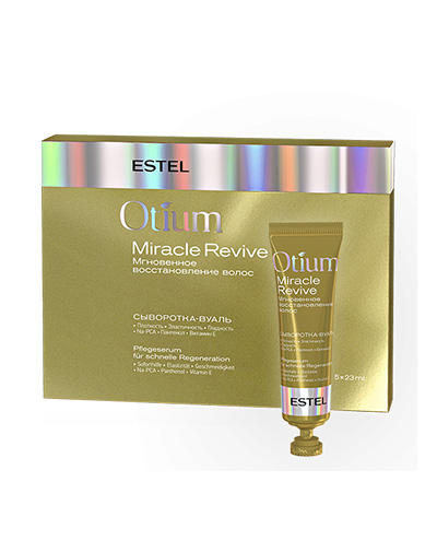 Estel Сыворотка-вуаль для волос Мгновенное восстановление Otium Miracle Revive, 5 * 23 мл (Estel, Otium Miracle Revive)