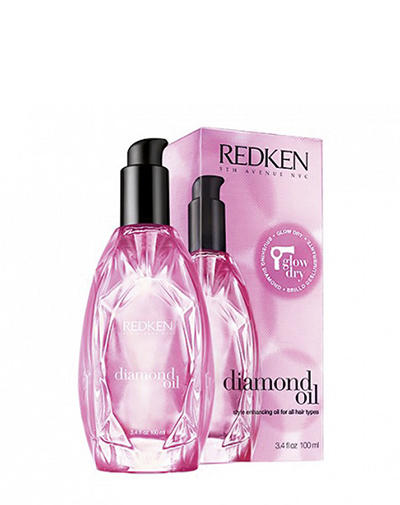 Купить Redken Diamond Oil Glow Dry Термозащитное масло для сияния волос 100 мл (Redken, Уход за волосами), США