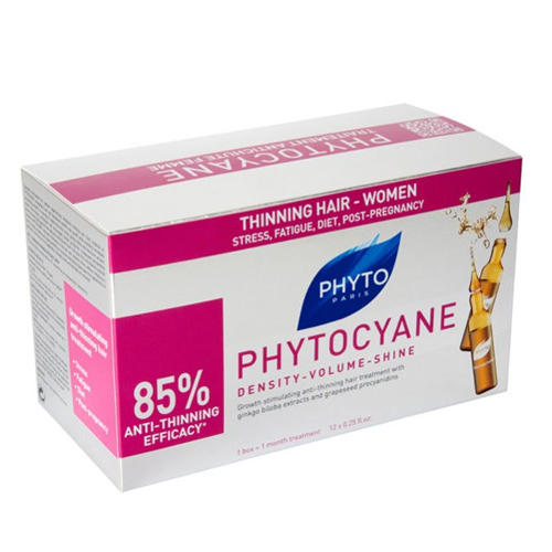Phyto Фитоциан средство против выпадения и старения волос у женщин 12 ампул (Phyto, Средства против выпадения волос) эффективное средство против выпадения волос
