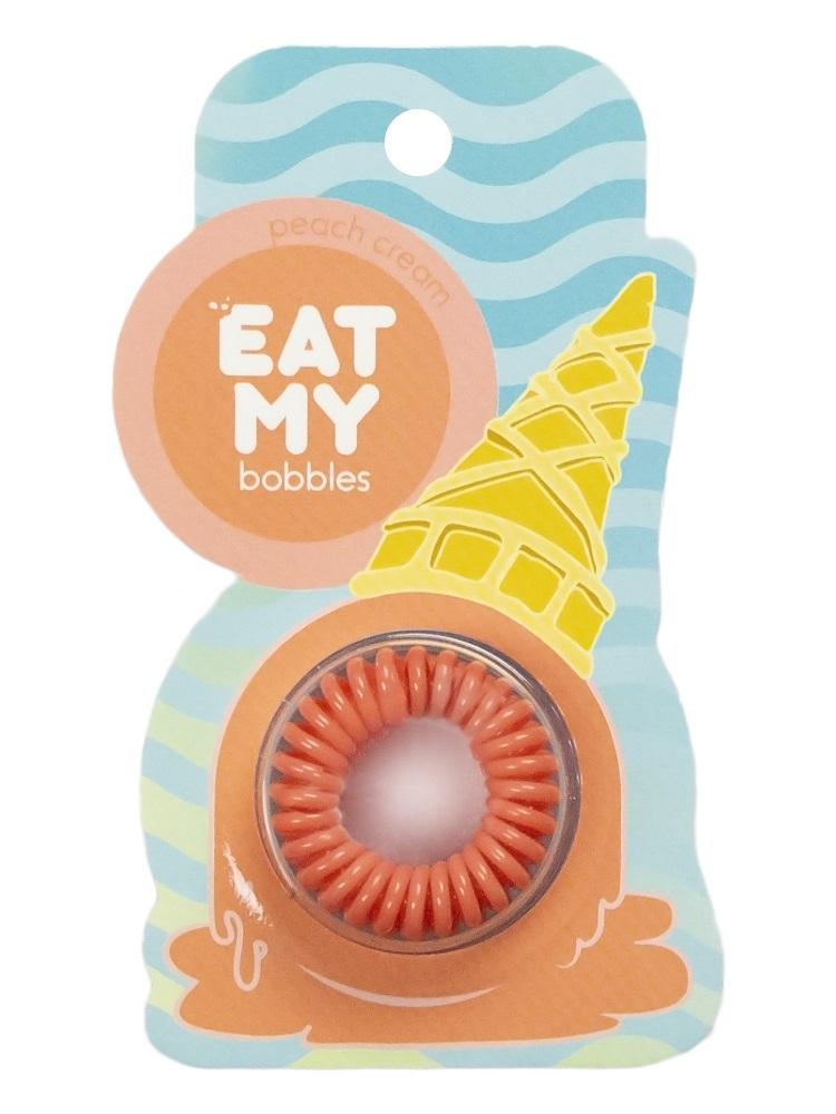 Купить Eat My Резинка для волос Сливочный персик , 3 шт (Eat My, Для причесок), Россия