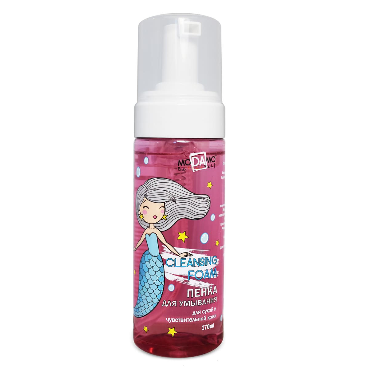 Купить MoDAmo Пенка для умывания для сухой и чувствительной кожи, 170 мл (moDAmo, Be yourself), Россия