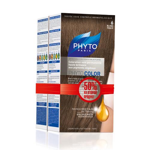 6 Фитоколор Краска для волос Темный блонд 2 шт. (Phyto, Краски) недорого