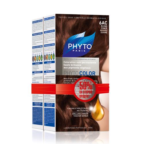6AC Фитоколор Краска для волос Темный блонд медькрасное дерево 2 шт. (Phyto, Краски) недорого