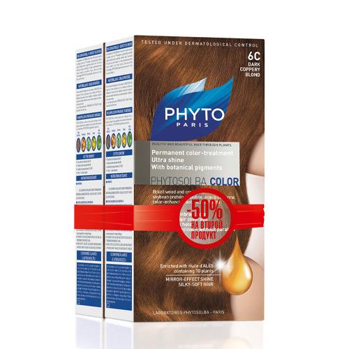 6C Фитоколор Краска для волос Темный медный блонд 2 шт. (Phyto, Краски) недорого
