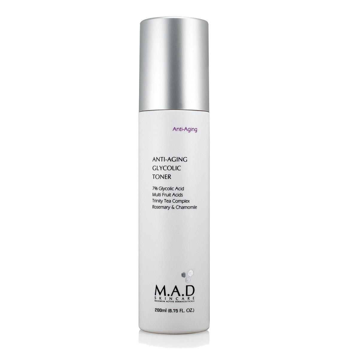 M.A.D. Тоник с 7% гликолевой кислотой предотвращающий старение кожи 200 мл (M.A.D., Anti-Age)