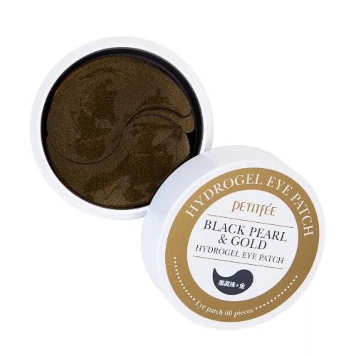 Petitfee Патчи для глаз с черным жемчугом и золотом Black Pearl & Gold Eye Patch, 60*1,4 г (Petitfee, Eye Patch) фото