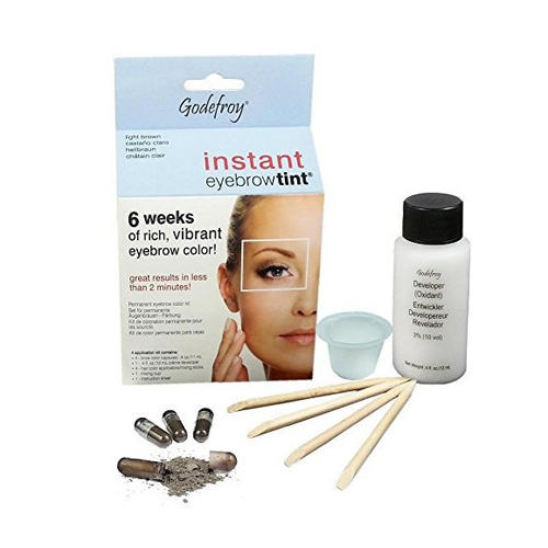 Godefroy Eyebrow Tint Light Brown Краска-хна в капсулах для бровей, светло-коричневая, 15 капс (Eyebrow)