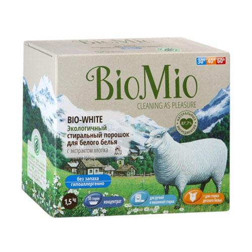 BioMio Стиральный порошок для белого белья, 1500 мл (BioMio, Стирка) цена 2017