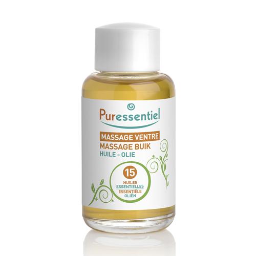 Puressentiel Комплекс масел для массажа живота 15 эфирных масел 50 мл (Puressentiel, Хорошее самочувствие) puressentiel органическое массажное масло отдохнуть и расслабиться 100 мл puressentiel хорошее самочувствие