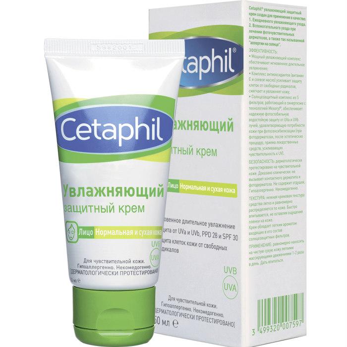 Cetaphil Увлажняющий защитный крем 50 мл (Cetaphil, Базовый уход) сетафил увлажняющий крем цена