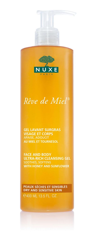 Рэв Де Мьель Очищающий обогащённый гель для лица и тела 400 мл (Nuxe, Reve De Miel)