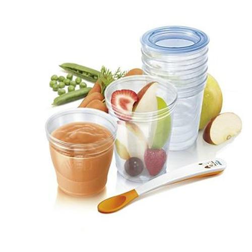 Набор контейнеров для хранения детского питания (Avent, Система VIA) контейнеры для хранения детского питания avent 5 шт scf639 05