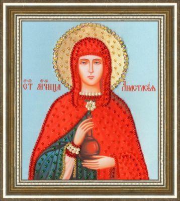 РТ124 Икона Святой Великомученицы Анастасии Узорешительницы.Рисунок на ткани (Золотое Руно, Золотое Руно)