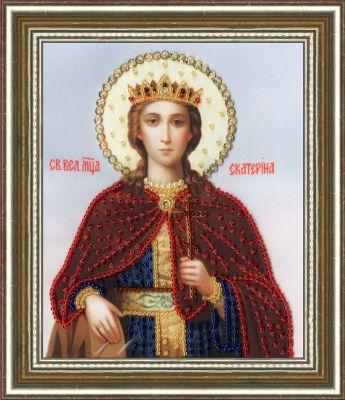 РТ129 Икона Святой Великомученицы Екатерины.Рисунок на ткани (Золотое Руно, Золотое Руно)
