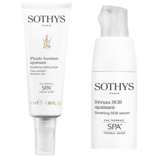 Набор для чувствствительной кожи Sensitive Skins Duo Promotion (Fluid), 50 20 мл (Sothys, Clarte Confort) набор для чувствительной кожи sensitive skins duo promotion fluid успокаивающий флюид 50 мл успокаивающая sos сыворотка 20 мл