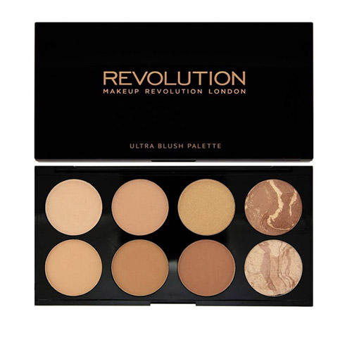 Палетка румян и корректоров Blush Contour Palette All about Bronzed (Makeup Revolution, Лицо)