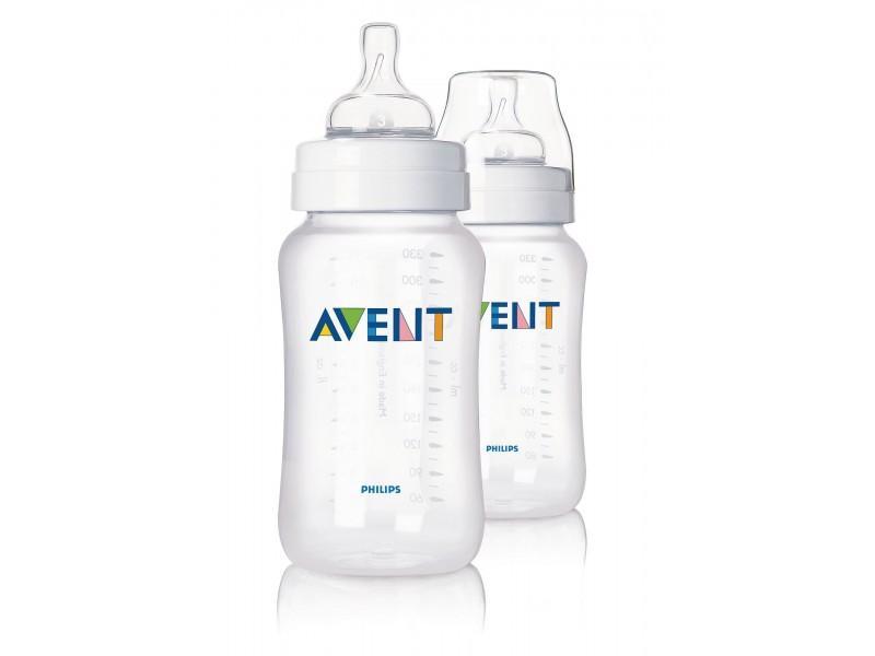 Бутылочки для кормления, 2 x 330мл Avent Philips (Avent, Стандарт)