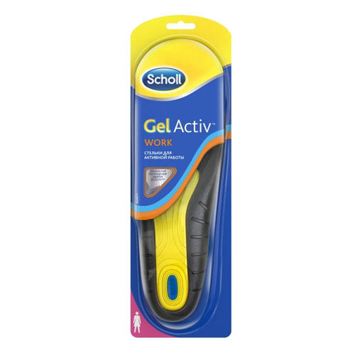 Scholl Стельки для активной работы для женщин GelActiv, 1 пара (Scholl, Gelactiv)