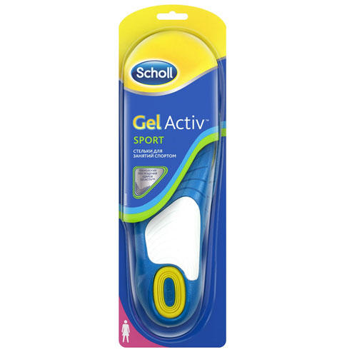 Scholl Стельки для занятий спортом  для женщин GelActiv, 1 пара (Gelactiv)