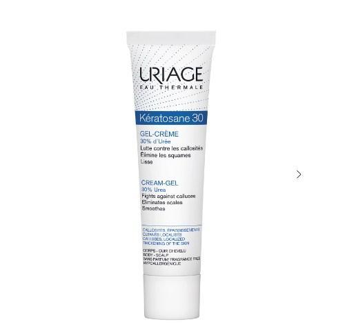 Купить Uriage Кератозан-30 гель-крем для мозолистых образований и локализованных утолщений 40 мл (Uriage, Keratosane), Франция