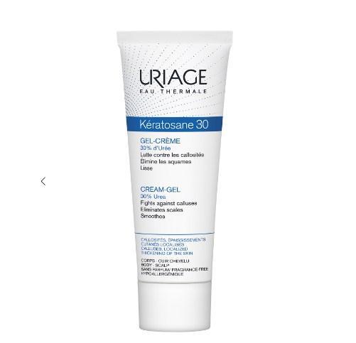 Купить Uriage Кератозан-30 гель-крем для мозолистых образований и локализованных утолщений 75 мл (Uriage, Keratosane), Франция