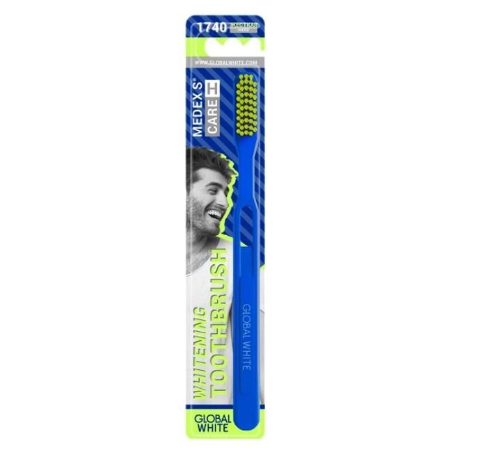 Global white Зубная щетка Hard жесткая 1 шт. (Global white, Зубные щетки)