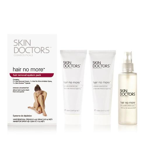 Набор для удаления и замедления роста волос 3 предмета (Skin Doctors, Hair No More) skin doctors hair no more pack