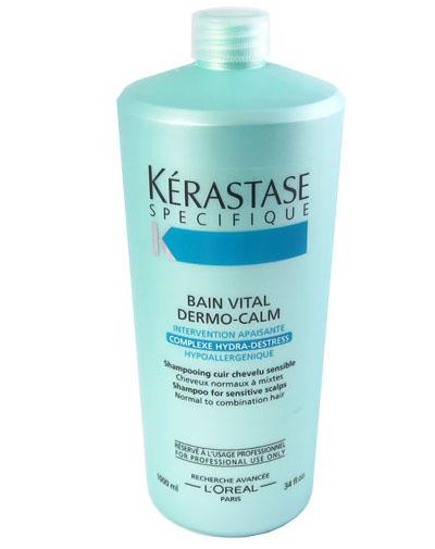 ШампуньВанна ДероКальм для чувствительной кожи и нормальных смешанных волос 1000 мл (Kerastase, Specifique) greenpharma pharmacalme шампунь успокаивающий для нормальных волос и чувствительной кожи головы 500 мл