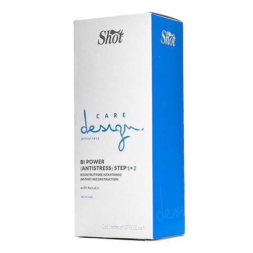 Shot Эликсир Мгновенное восстановление волос с кератином Шаг 1 + Шаг 2, 2*150 мл (Shot, Care design)