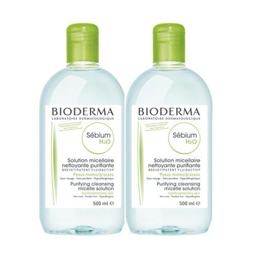 Bioderma Набор Очищающая вода Себиум H2O - 2 по цене 1 (Sebium)