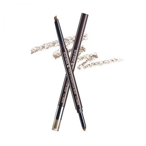 Карандашпудра для бровей Eco Soul Pencil Powder Dual Brow, 0,5 г0,3 г (The Saem, Eye) artdeco карандаш для бровей eye brow pencil тон 6 1 1 г