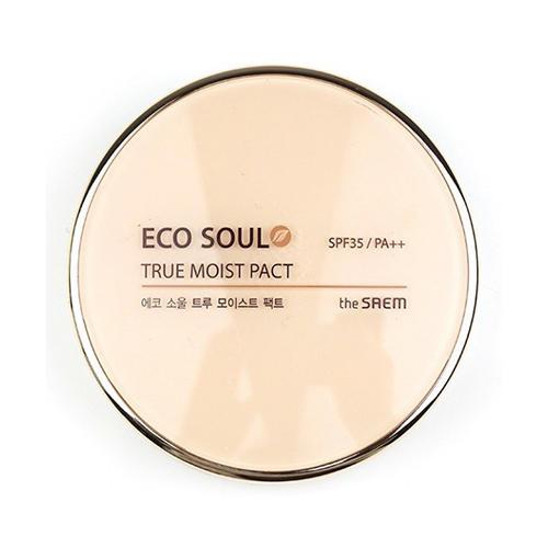 Пудра для лица увлажняющая True Moisture Pact, 11 г (The Saem, Eco Soul) пигментная пудра для бровей the saem eco soul eyebrow kit page 8 page 5