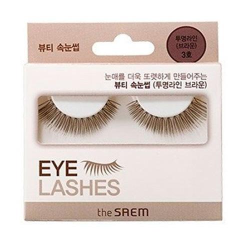 цены Накладные ресницы коричневые Eyelash Clear Line 3 (The Saem, Eyelash)