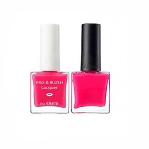 Набор лак для ногтей блеск для губ и румяна KissBlush Lacquer Kissholic Nails PK03, 9,5 г9,5 г (The Saem, Lip) the saem kissholic lipstick s best seller помада для губ матовая тон cr01 4 1 г