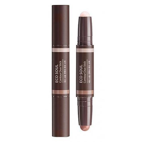 Стик для контурного макияжа Contour Duo Stick, 21,9 г (The Saem, Eco Soul) минеральный тинт the saem eco soul mineral tint in oil