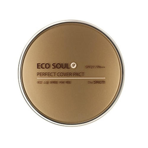 Пудра компактная Perfect Cover Pact, 11 г (The Saem, Eco Soul) цена