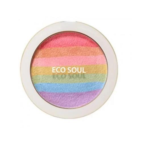 Румянахайлайтер компактные Eco Soul Prism Blusher, 8 г (The Saem, Saemmul) the saem saemmul single shadow paste honey gelato тени для век кремовые тон ye01 1 8 гр