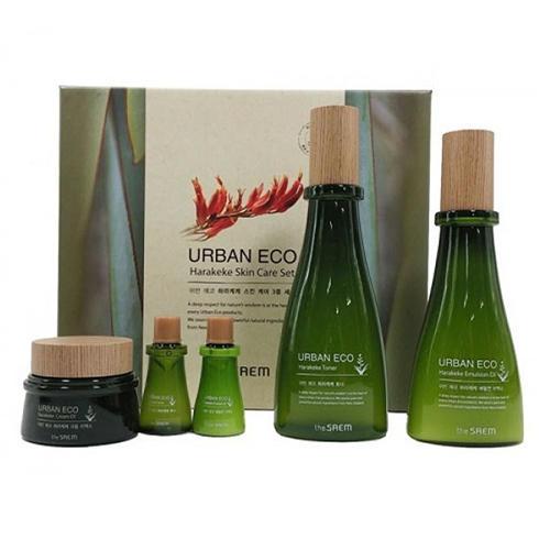 Набор уходовый с экстрактом новозеландского льна Urban Eco Harakeke Skin Care 3 Set (The Saem, Harakeke)