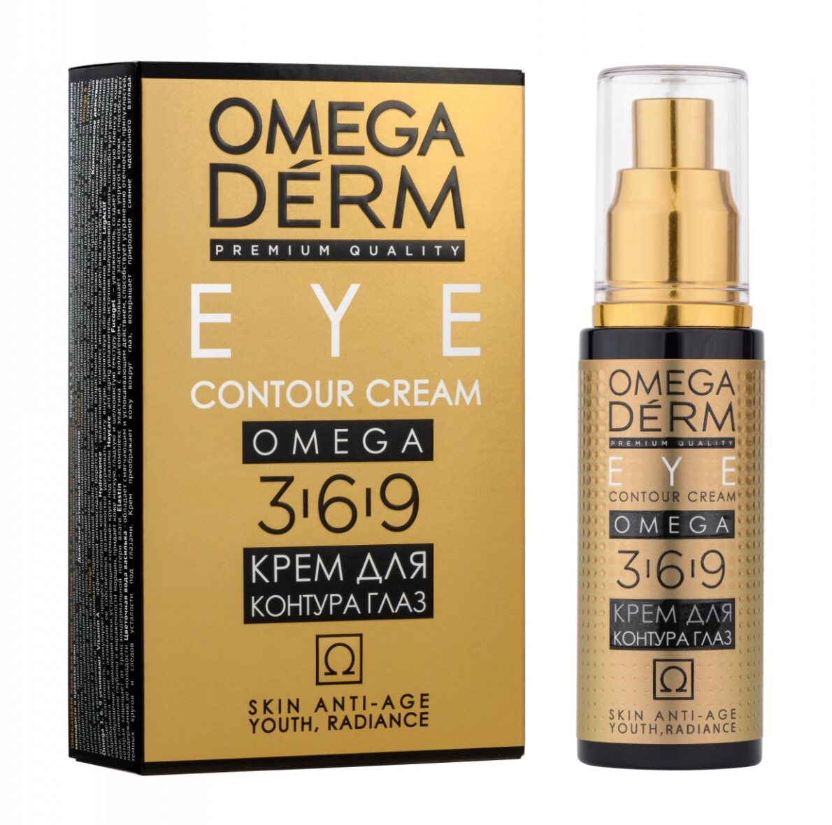 Купить Omegaderm Крем для контура глаз, «Идеальное восстановление» Omega 3 6 9, 50мл (Omegaderm, Для лица), Швейцария