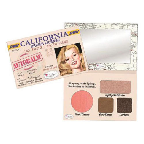Палетка теней AutoBalm California, 3 г (Thebalm, Лицо)