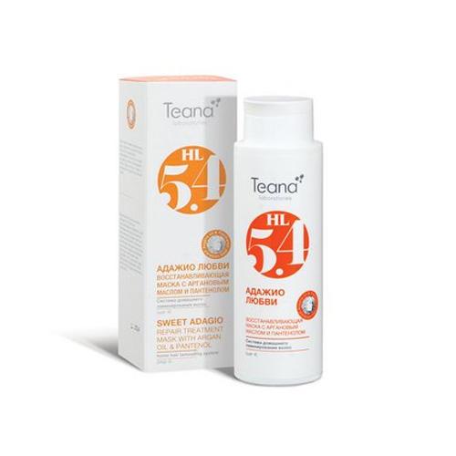 Восстанавливающая маска с Аргановым маслом и Пантенолом Адажио любви Шаг 4 125 мл (Косметика для волос) (Teana)