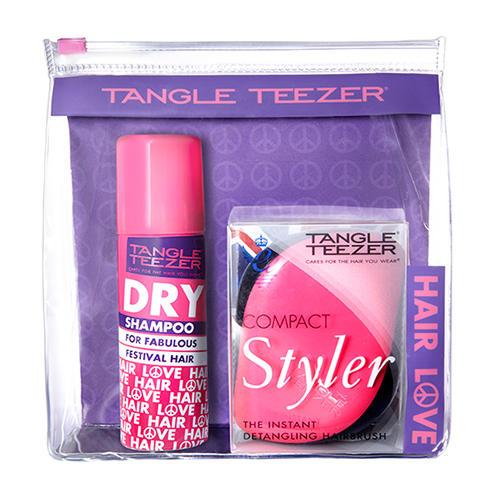 Набор Festival Pack сухой шампунь и расческа розовый (Tangle Teezer, Наборы) расчески tangle teezer купить