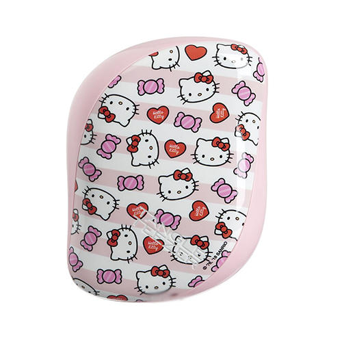 Расческа Hello Kitty Candy Stripes розовый (Tangle Teezer, Compact Styler) расчески и щетки tangle teezer compact styler hello kitty pink цвет hello kitty pink variant hex name fcc4d1