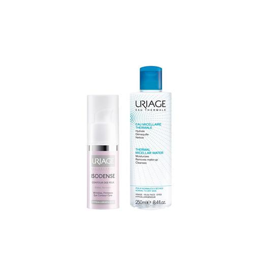Uriage Набор Изоденс Уход для кожи контура глаз 15 мл + Мицеллярная вода для сухой кожи 100 мл (Isodence)