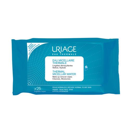 Салфетки с очищающей мицеллярной водой 25 шт. (Uriage, Гигиена Uriage) uriage урьяж салфетки с очищающей мицеллярной водой 25 штук 25 штук