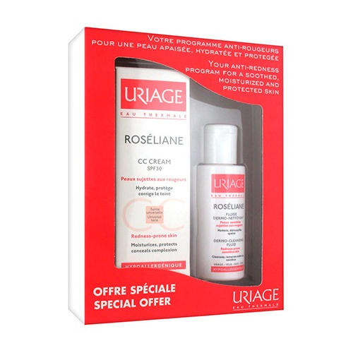 ����� �������� �� ���� SPF30, 40 �� + �����-��������� �������� 50 �� (Roseliane) (Uriage)