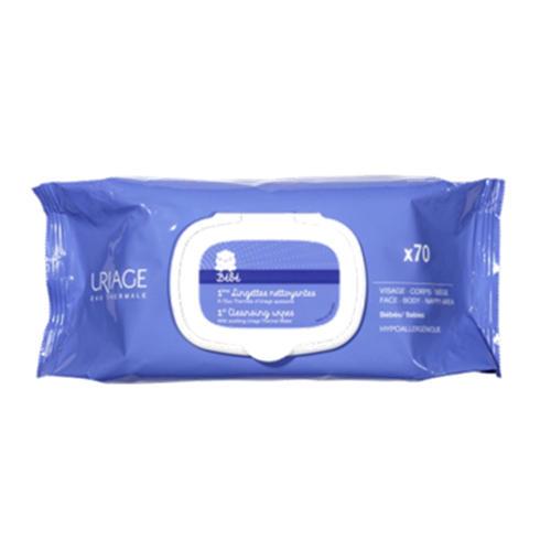 Uriage Первая вода - Очищающие сверхмягкие салфетки для детей и новорожденных 70 шт. (Детская гамма)
