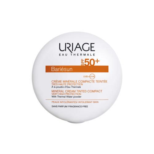Uriage Барьесан Минеральная тональная крем-пудра SPF50+ Золотистый, 10 гр (Uriage, Bariesun) uriage барьесан матирующая эмульсия spf50 50 мл uriage bariesun